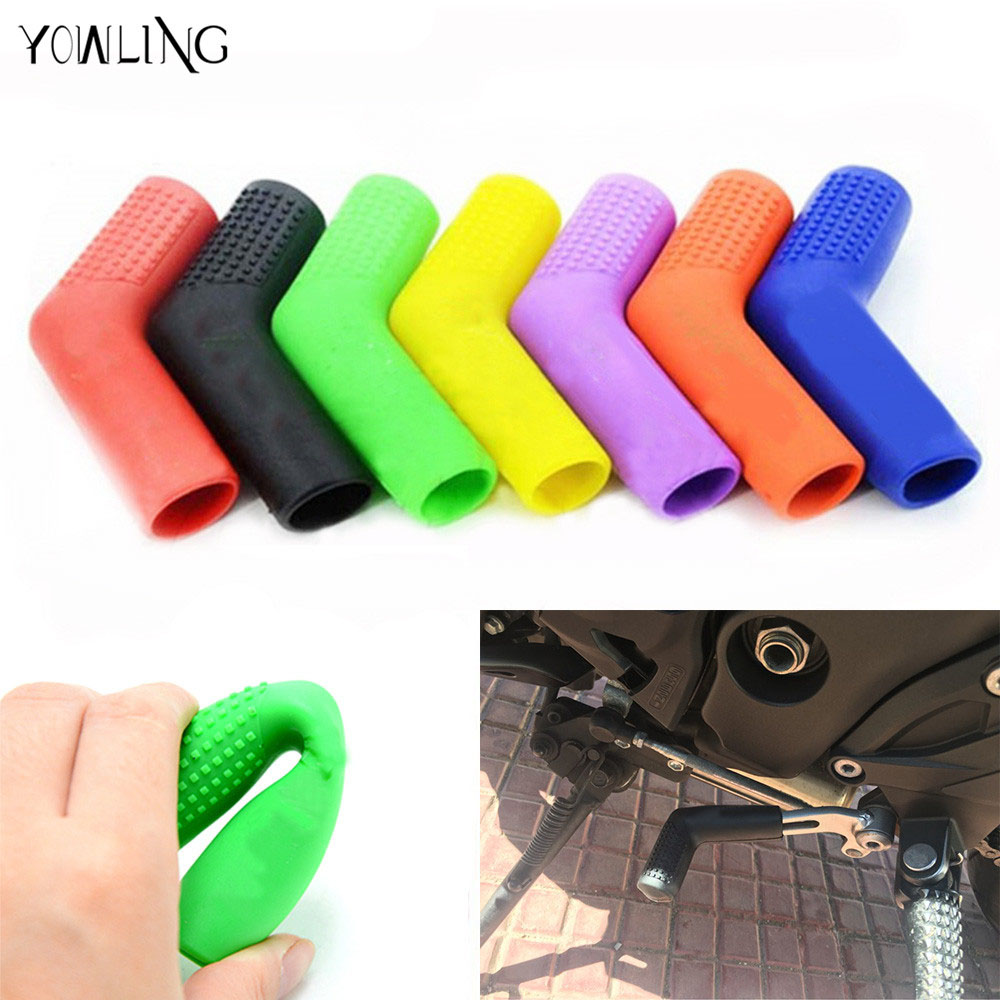 Motorcycle 1PC Shifter Shoe Protector Gas Rubber Shift Lever Gear Cover Motorbike Parts Universal Lever Protection Moto Accessories For Kawasaki Honda Suzuki Yamaha Gold