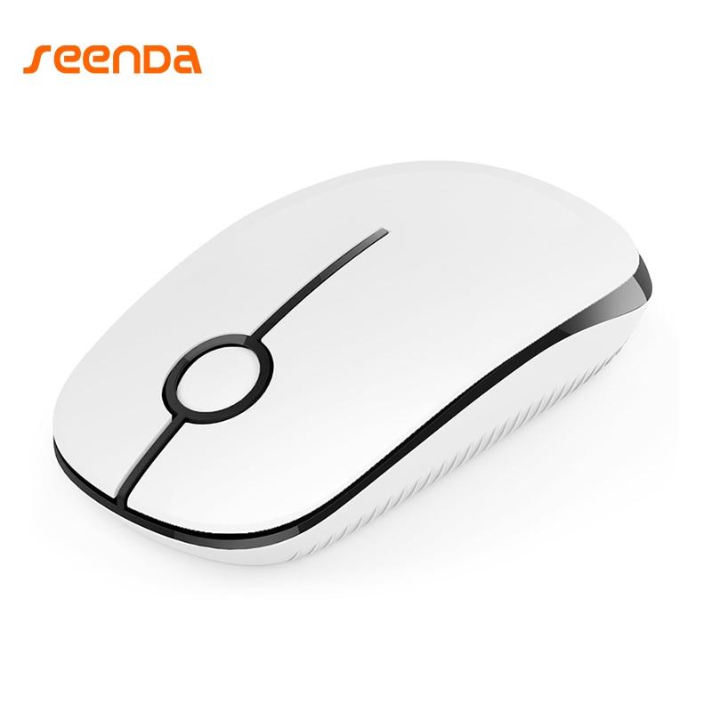 SeenDa 2,4G Drahtlose Maus Stille Taste Mäuse Für Laptop Notebook Chromebook Computer Büro Optische Schlank Mice Geburtstagsgeschenk
