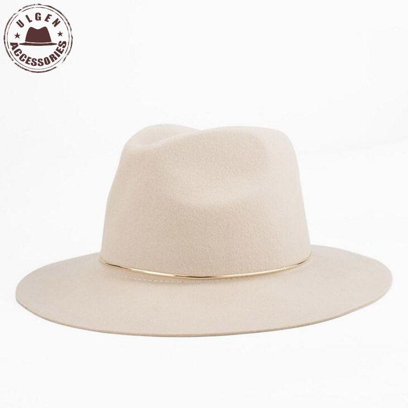 Yeni Moda qadınları fedora şapka açıq rəngli qadınlar üçün - Geyim aksesuarları - Fotoqrafiya 6