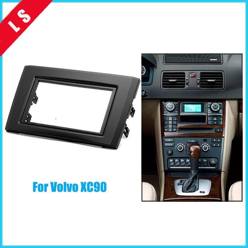 2Din Car Radio Fascia for 2004 2013 Volvo XC90 DVD Panel Trim Dash Audio Fitting Adaptor Auto Stereo Radio Installation 2 din|car radio fascia|radio fascia|radio install - title=