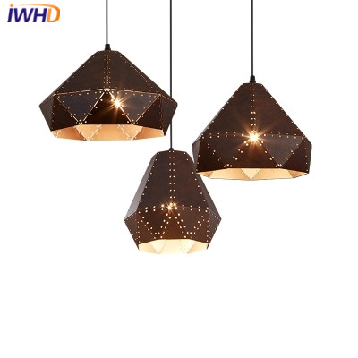 IWHD Iron Retro Lamp Pendant Lights Loft Style Creative Industrial Lighting Fixtures Led Hanging Lights Fixtures Lamparas Lustre iwhd glass hang lights loft style industrial lighting iron vintage lamp led pendant light kitchen hanging lamp bar lamparas