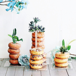 Image 5 - Donut Wall Stand Wedding Decoration DIY Doughnut Display Bar With Base Baby Shower Birthday Party Cake Dessert Stand Table Decor