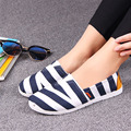 zapatos de mujer women high quality soft and comfortable stripe flat shoes female work and office flats lady cute bendable shoes