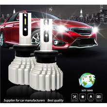 H1 LED Headlight For Auto 50W 5000LM 5202 9012 H7 H8 HB3 HB4 P13W PSX26W PSX24W Car LED Headlamp 24V 12V LEDs Bulb Lamp(China)