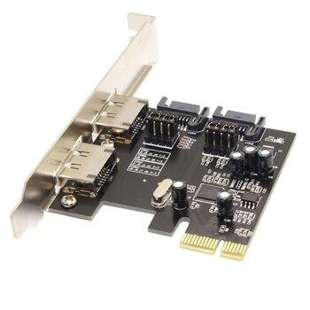 PCI-E to 4 Ports SATA 3.0 ESATA PCIE SATA3 6Gbps PCI-E Adapter Expansion Card