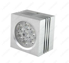 Dimmable/Not 3W/5W/7W LED Ceiling Light Square Spot Lamp Living Room Bedroom Hotel Exhibition Black/Silver Shell