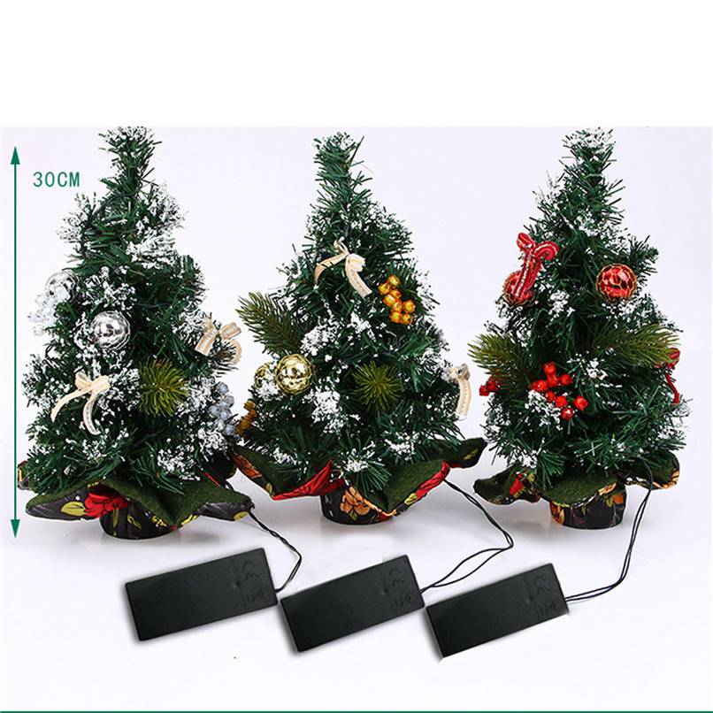 New Arrival Merry Christmas LED Glow Tree Bedroom Desk Decoration Gift Office Home Wholesale Free Shipping 30RJ24