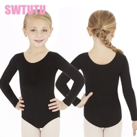 Black Womchild Ballerina Dance Leotard Blue Kids Practice Classic Ballet Costume Gymnastic Dance Leotards For Girls