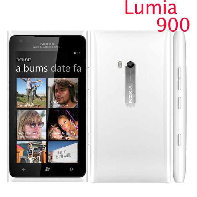 Nokia Lumia 900 abrió el teléfono móvil Original 3 G GSM WIFI GPS 8MP 16 GB de memoria de Windows os reformado 1 year garantía