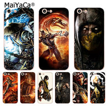 MaiYaCa Scorpion in Mortal Kombat Top Detailed Popular Phone case for iPhone 8 7 6 6S Plus X 5 5S SE 5C case Cover(China)