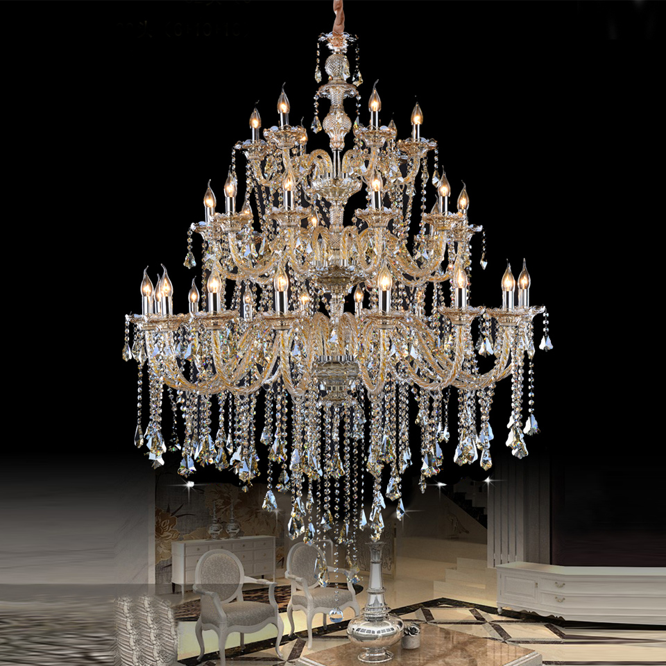 Dining Room Modern Crystal Chandeliers: Large Crystal Chandeliers Modern Chrome Chandelier