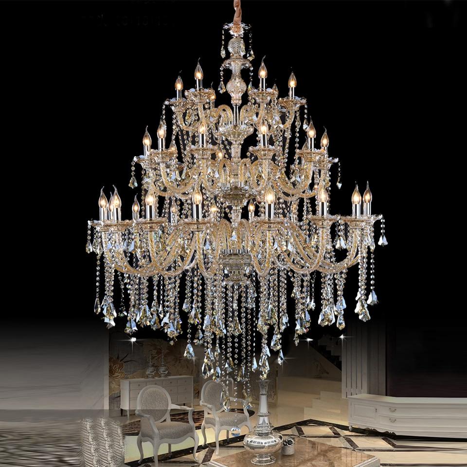 Aliexpress Com Buy Large Crystal Chandelier Hotel