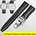 HOWK ремешок из крокодиловой кожи заменитель IWC ремешок из натуральной кожи Португальский 7 Portofino Пилот часы серии ремешок