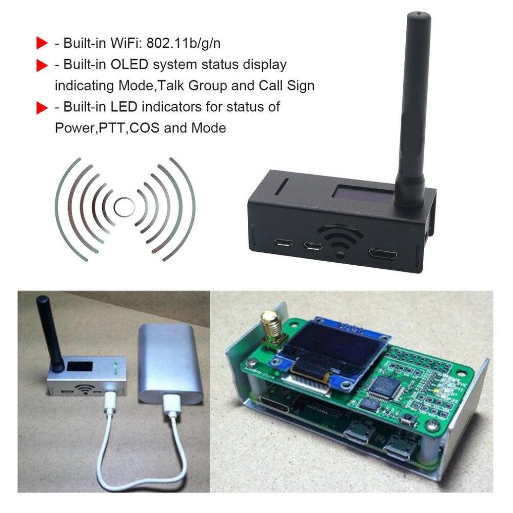 Récepteur de Signal professionnel en aluminium à affichage OLED MMDVM Support hotspot P25 DMR YSF + raspberry pi + OLED + antenne + étui