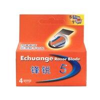 4pcs Pack Razor Blade For Men Face Care Shaving Safety 5 1Trimmer Stainless Steel Shaver Cassette
