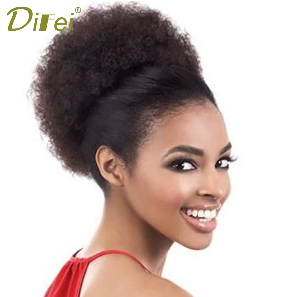 DIFEI Black Brown Curly Chignon Hairpiece Clip-In 3 Colors Heat Resistant Synthetic Hair Chignons Clip In Hair Hairpieces