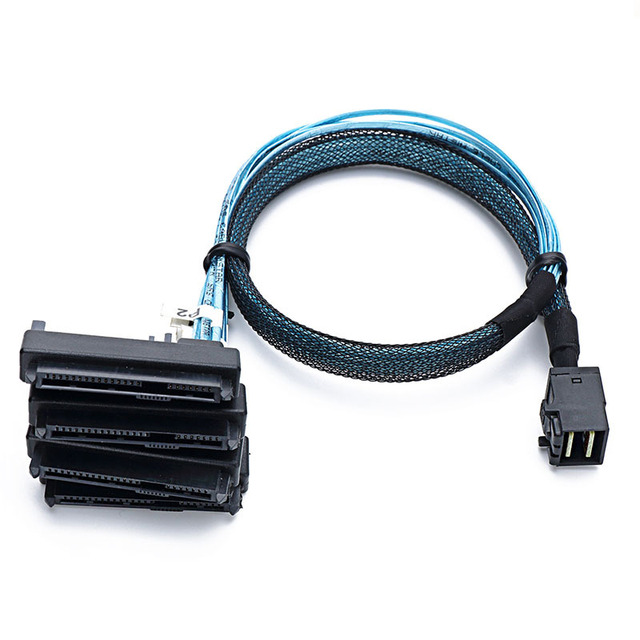 SFF 8643 to 4sas 29P+15P Sata hard disk server data transmission line