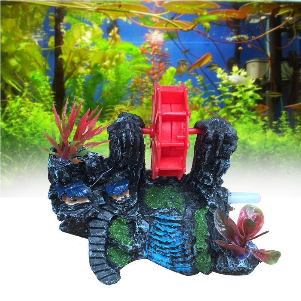 House Decoration Craft Kissing Fish Home Furnishings: A1 2016 Artifical Aquarium Ornament Rockery Windmill Fish