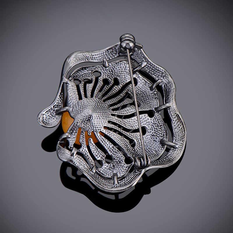 Nero del Metallo di Modo Bouquet Spilla Distintivi e Simboli Accessori di Moda Colorato Imitazione Perla Spille Spille Gioielli Per Le Donne E Gli Uomini