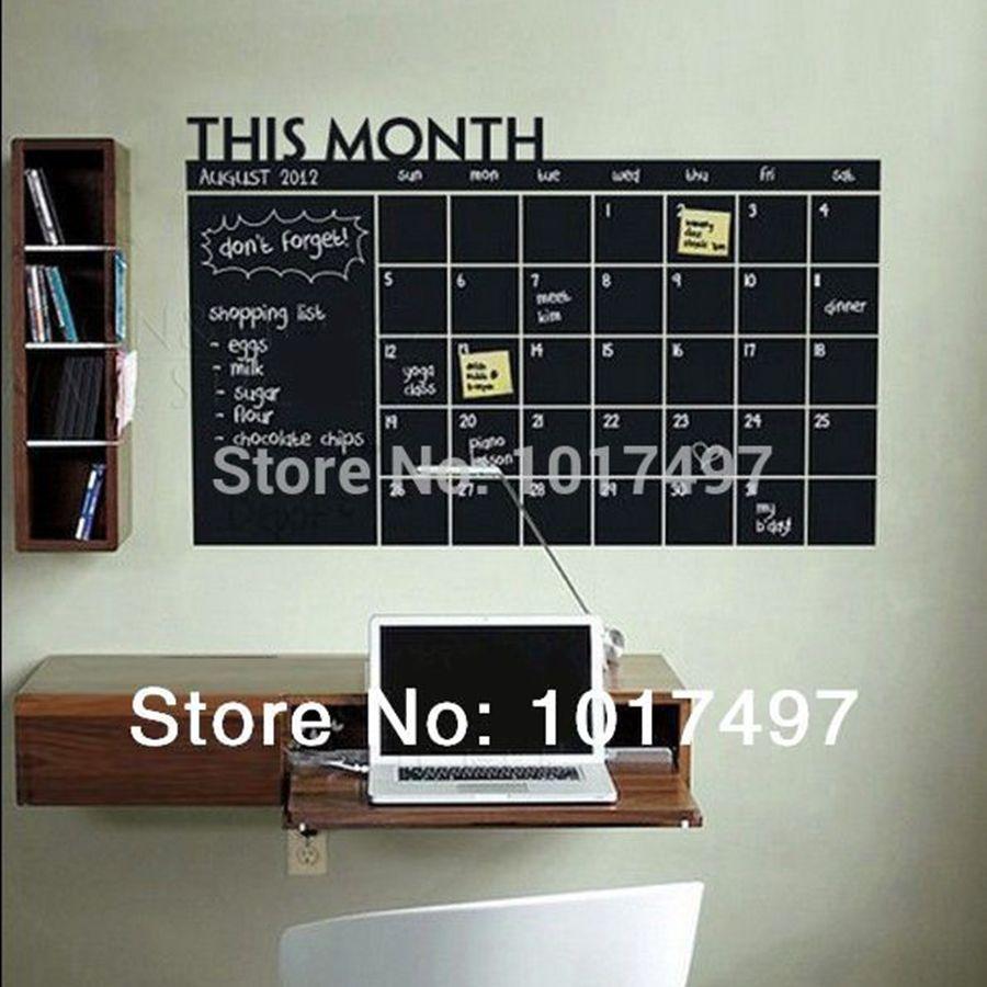 Diy 56x38cm Monthly Chalkboard Wall Sticker Blackboard