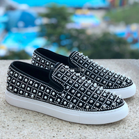New Arrival Product Fashion Man Casual Shoes Rivets Punk Style Loafers Male Breathable Party Footwear Slip On Shoes