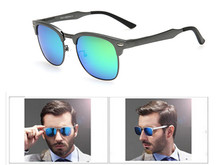 Fashion Men Polarized Sunglasses Magnesium Aluminum Sports Half Metal Sunglasses Coating Reflective Eyewear Free Shipping