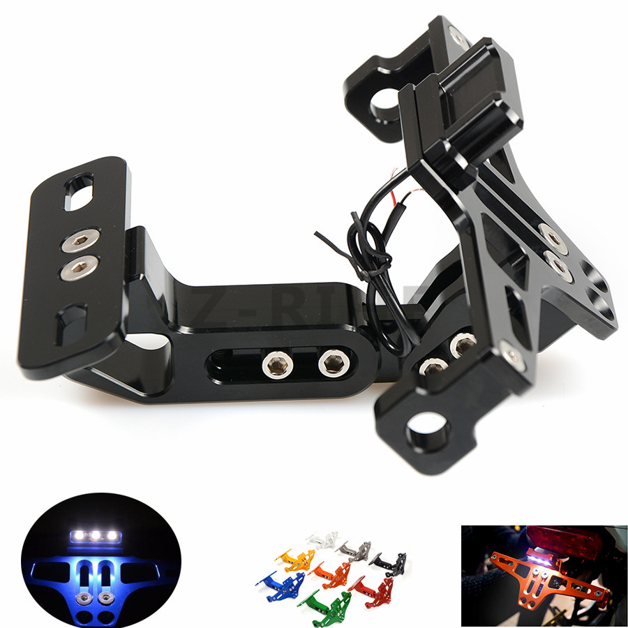 for  Universal Fender Eliminator License Plate Bracket Ho Tidy Tail motorcycle accessories For Kawasaki Ninja ZX10R ZX6R 636 ZX6 for suzuki gsx r600 k6 motorcycle fender eliminator license plate bracket tail tidy tag rear for suzuki gsxr750 k6 2006 2007
