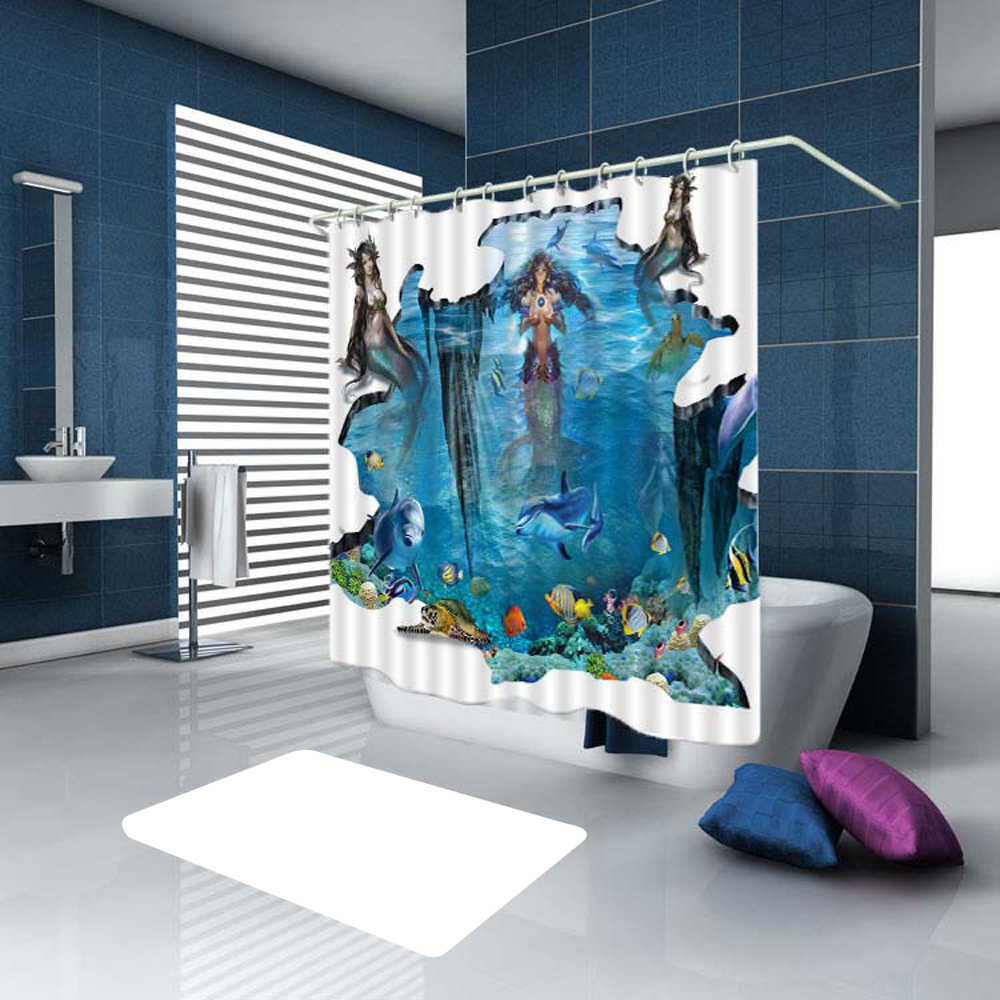 Eco Friendly Bath Curtain Colourful Animals Bathroom Waterproof Shower D Of Toilet With Hooks In Curtains From Home