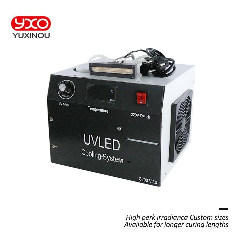400 W UV LED sistema di polimerizzazione 2 LED Testa per la stampa di led che cura macchina, la stampa di etichette, flatbed Stampante, inchiostro uv, colla luce di polimerizzazione