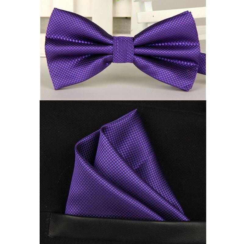férfi haditengerészet lila csokornyakkendő és zsebkendő - Ruházati kiegészítők