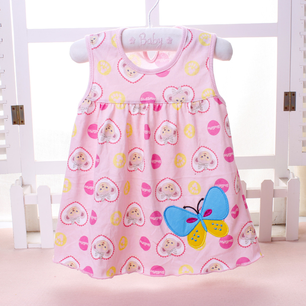 2018 Summer one year Baby Girl Cotton Dress Infant Kids Princess Dresses 0-12 Months Newborn Clothes Clothing Christmas Gift