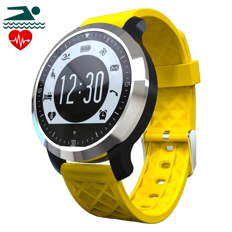 ФОТО IP68 Waterproof F69 Bluetooth Smart Watch Heart Rate Monitor Fitness Tracker Swimming Healthy Wristband for IOS Android
