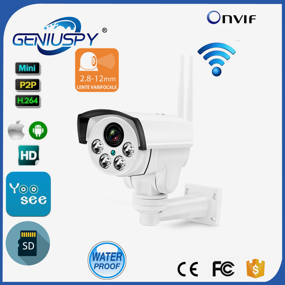 Wireless 1.3MP HD IR Waterproof 4X Optical Zoom Auto Focus PTZ Yoosee Wifi IP Camera Bullet support 433MHz receiver SD Card 2016 outdoor 1080p wifi ptz camera array ir 2 8 12mm lens 4x optical zoom auto focus waterproof speed dome cam support sd card