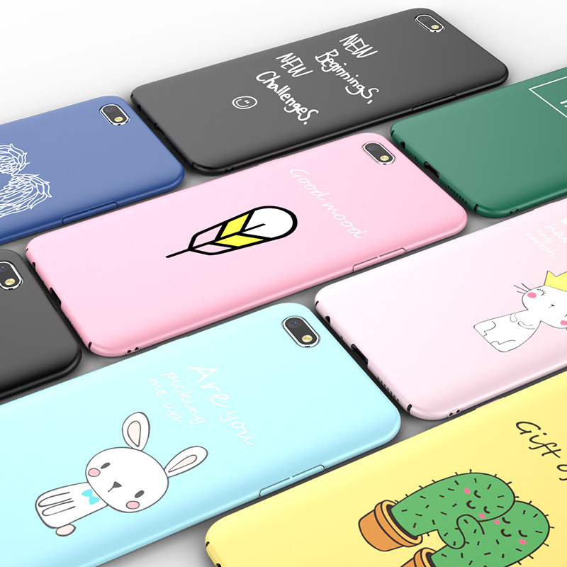 Cartoon Animals Rabbit Phone Cases for capinhas iPhone X 8 7 6s Plus Hard PC Matte Frosted Glossy Cover Cactus Wings accessories