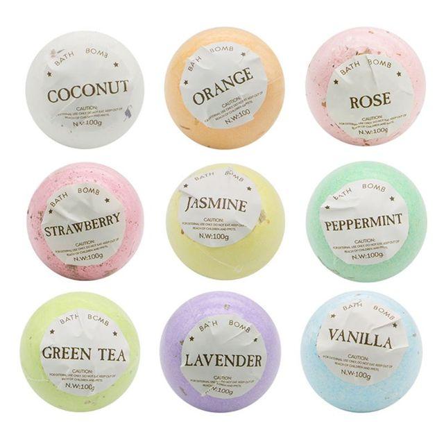 4Pcs/Box Deep Sea Bath Salt Dried Flower Essential Oil Body Bubble SPA Bath Bomb Ball Aromatherapy Dry Skin Moisturize Gift 4