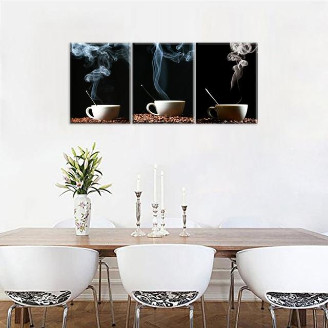 Kitchen Canvas Art Coffee Bean Canvas Prints Wall Art Decor Framed ...