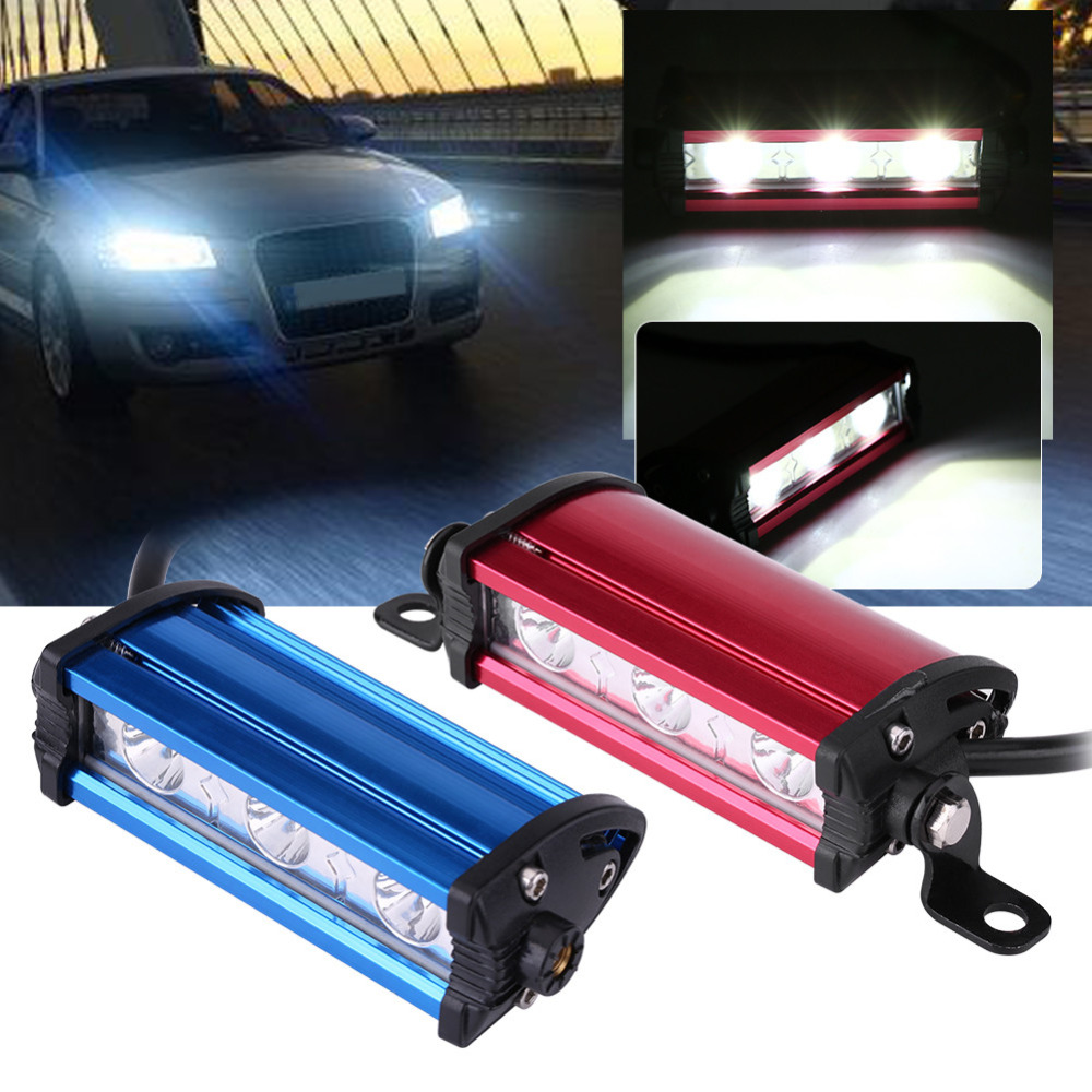 9W DRL Bar Lamp 4 Inch 3 LED Spot Beam Work DRL Light Bar Lamp for Car Truck Off Road ATV Motorcycle Work Light