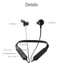 Função do bluetooth Neckband fone de ouvido com microfone Com Cancelamento de Ruído sem fio fone de ouvido para telefones