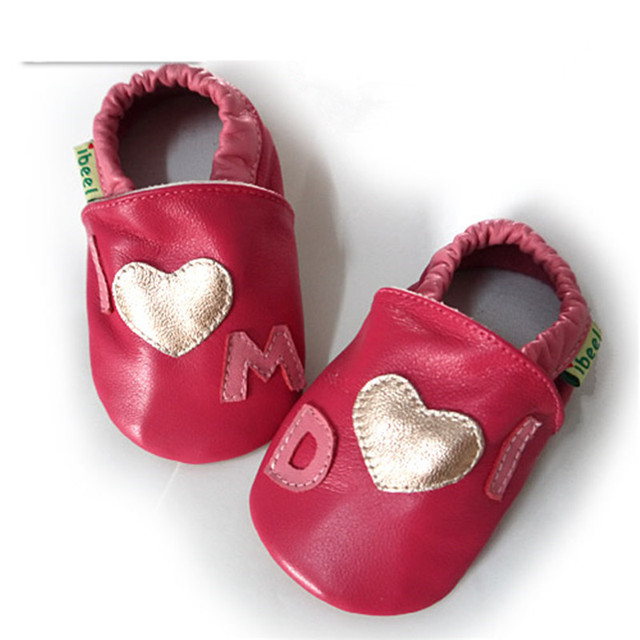 Lovely Toddler First Walkers Baby Shoes Round Toe Flats Soft Slippers Genuine Leather Baby Boys Girls Infant Shoes Loafers 0-18M