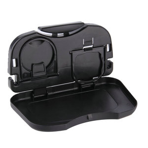 Image 2 - 1pcs Folding Car Cup Holder Auto Back Seat Table Drink Food Cup Tray Holder Stand Desk Hot Selling Drop Shipping