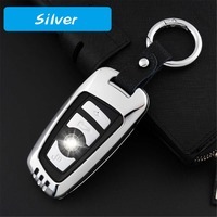 Zinc alloy+genuine leather Car Key Cases Key Holder KeyChain Cover for BMW M3 M5 M7 X5 X6 series car specific Smart Remote case