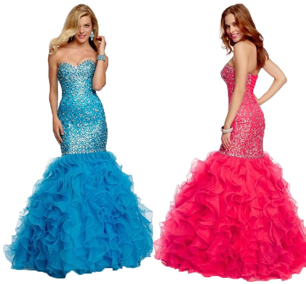 Aliexpress.com : Buy 2017 Mermaid Evening Dresses Long Crystal ...