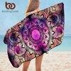 BeddingOutlet Mandala Beach Towel Watercolor Bathroom Towel for Adults Purple Red Pink Shower Towel Bohemian Floral serviette 1
