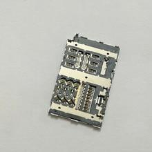 2pcs/lot Sim card reader slot tray module holder connector for LG G6 H870 H870DS LS993 VS988 H872 socket стоимость