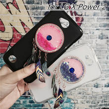 Newest Colorful Case Cover for LG X Power 2 II / K10 Power LV7 M320 M320N X320 M322 Capa Fundas Dynamic Liquid Glitter(China)
