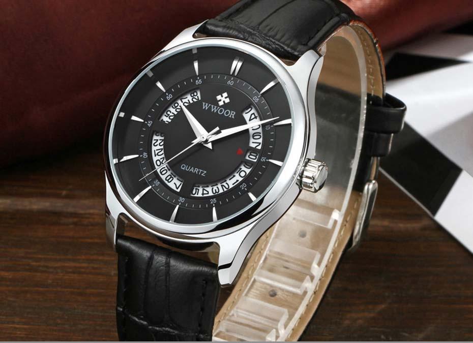 New Quartz Mens Watches Top Brand Luxury Complete Calendar Men\'s Wrist Watch Genuine Leather Strap Men Wristwatches  2019 (4)
