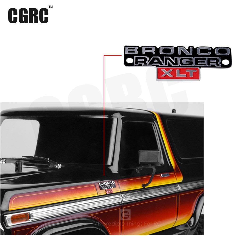 1pcs Stainless Steel Stereo Logo Metal Badge For 1/10 Trx4 Bronco Ranger Rc Crawler Car