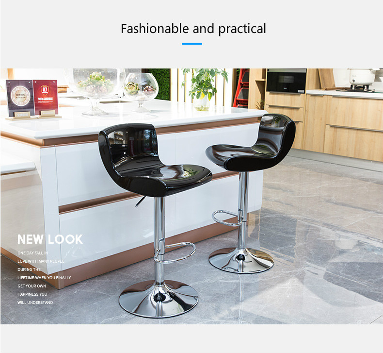Simple Design Lifting Swivel Chair Bar Counter Dinning Chair With Footrest Cafe Restaurant Ergonomic Cadeira High Quality Simple Keep You Fit All The Time Bar Furniture