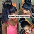 360 Кружева Фронтальная Закрытие С Пучками Бразильского Виргинские Волос 360 кружева Группа Фронтальная С Пучками 360 Кружева Фронтальная С Расслоением продажа