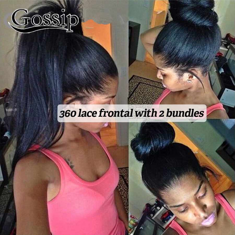 360 Lace Frontal Closure With Bundles Brazilian Virgin Hair 360 Lace Band Frontal With Bundles 360 Lace Frontal With Bundle Sale